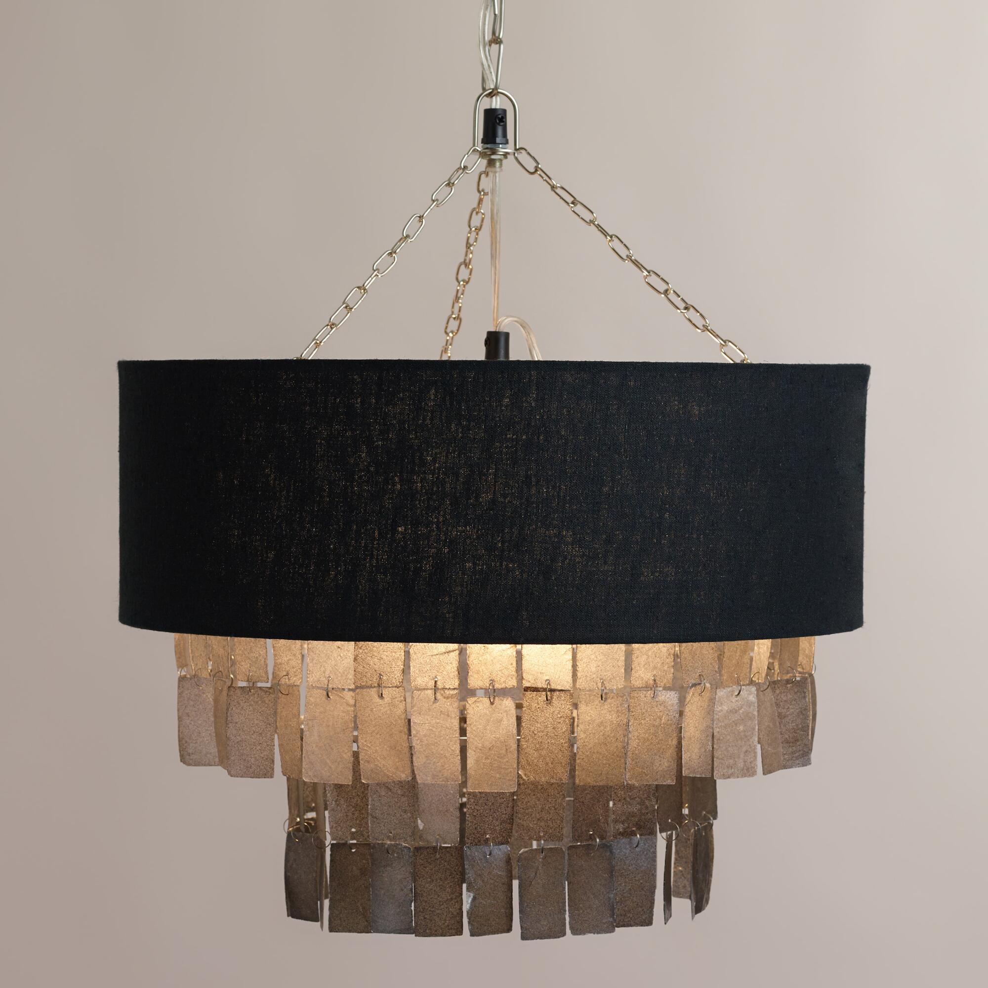 Charcoal Gray Capiz Linen Pendant L&... by World Market/Cost Plus | Havenly & Charcoal Gray Capiz Linen Pendant Lamp... by World Market/Cost ... azcodes.com