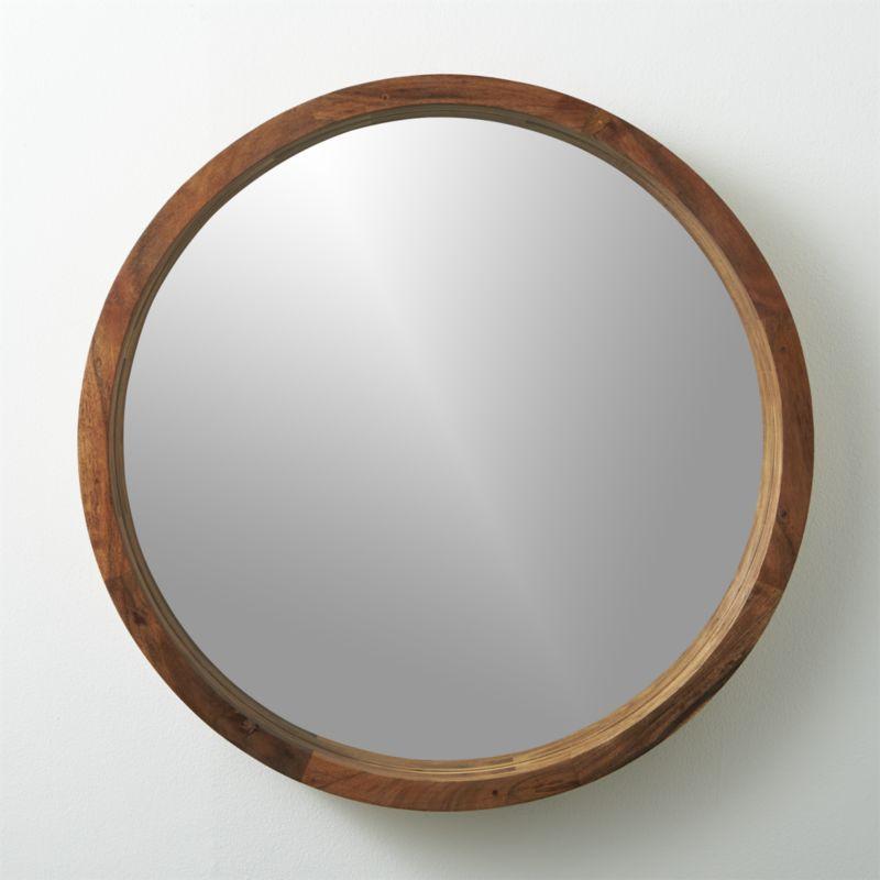 Large Round Wood Mirror Part - 18: Https://s3.amazonaws.com/static.havenly.com/