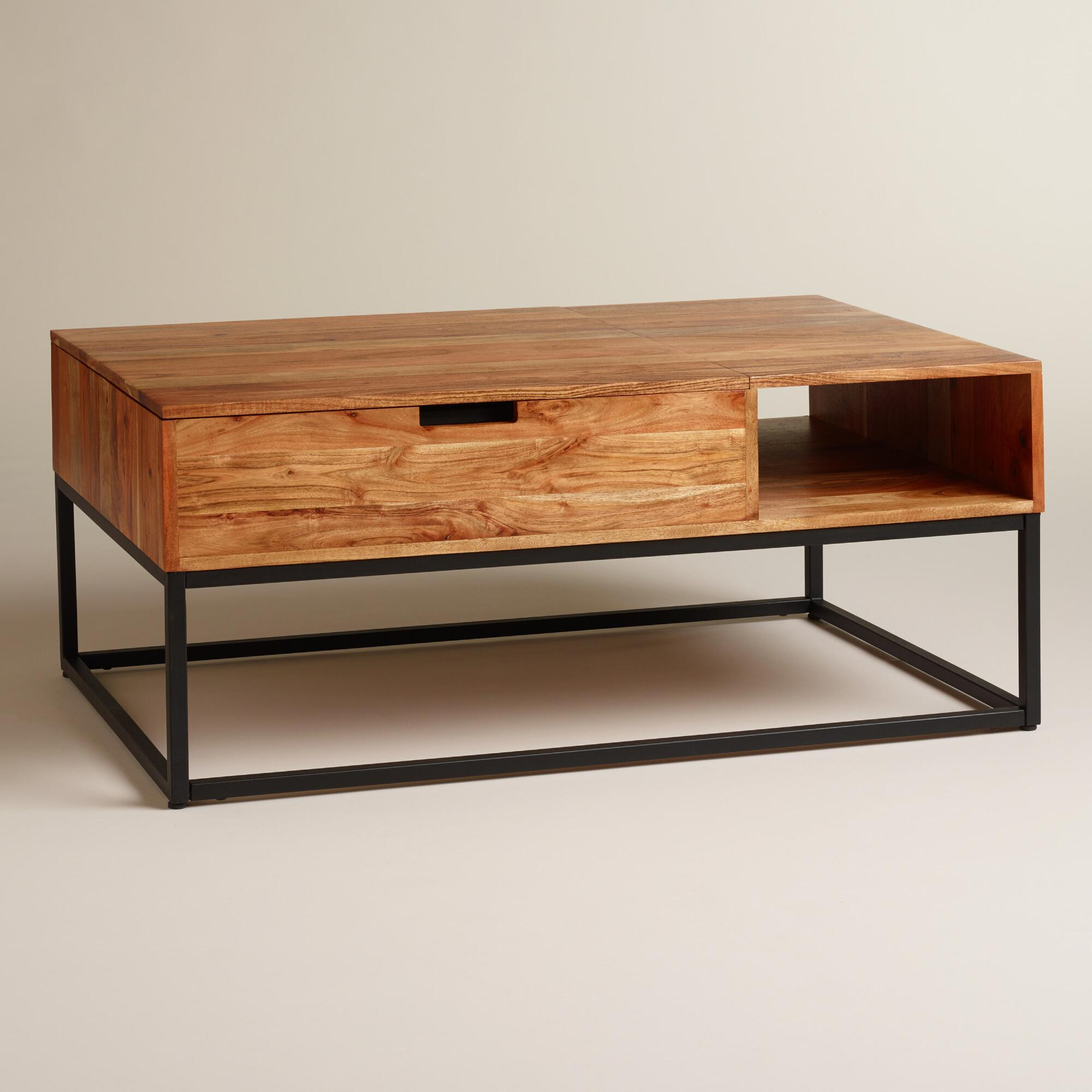 Wooden Coffee Tables With Drawers Wood Silas Storage Coffee Table Havenly
