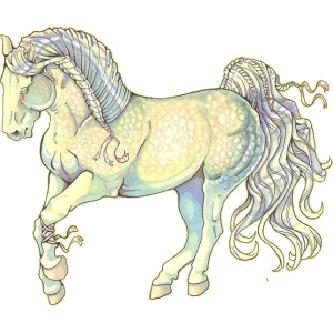 Riding Horse Lusitano Dapple Gray