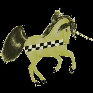 Riding unicorn Quarter Horse Roan