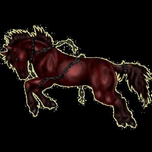 Riding Horse Mustang Few Spots