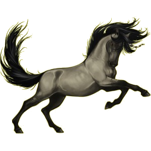 Riding unicorn Vanner Flaxen Liver chestnut