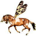 Riding pegasus Paint Horse Chestnut Overo