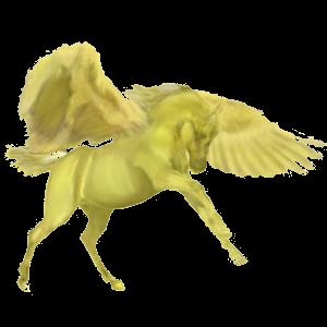 Riding pegasus Paint Horse Palomino Tobiano