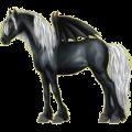 Riding pegasus Purebred Spanish Horse Cherry bay