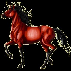 Riding unicorn Peruvian Paso Cherry bay