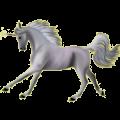 Riding unicorn Irish Hunter Light Gray