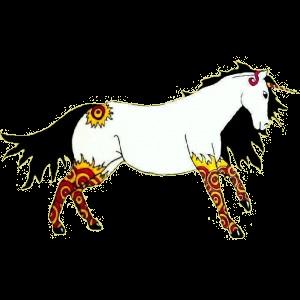 Riding unicorn Quarter Horse Dark Bay