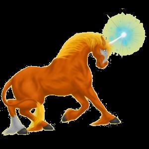 Riding unicorn Quarter Horse Palomino