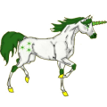 Unicorn pony Newfoundland Pony Roan