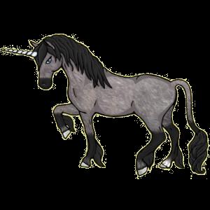 Winged riding unicorn Quarter Horse Dark Bay