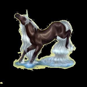 Riding unicorn Hanoverian Mouse Gray