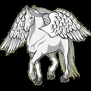 Riding pegasus Arabian Horse Light Gray