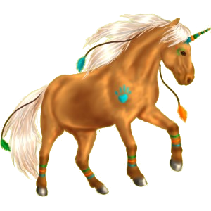 Unicorn pony Quarter Pony Palomino