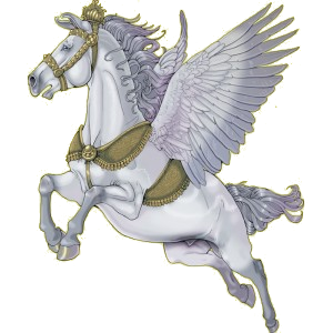 Riding pegasus Marwari Light Gray