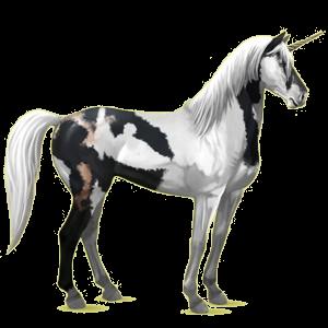 Riding unicorn Mustang Roan