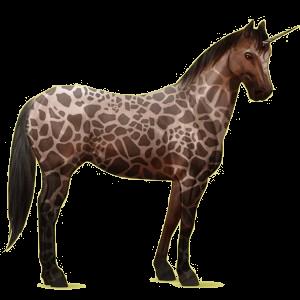 Riding unicorn Paint Horse Bay Tovero