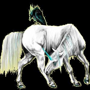 Skrzydlaty jednorożec wierzchowy Koń czystej krwi arabskiej Ciemnokasztanowata