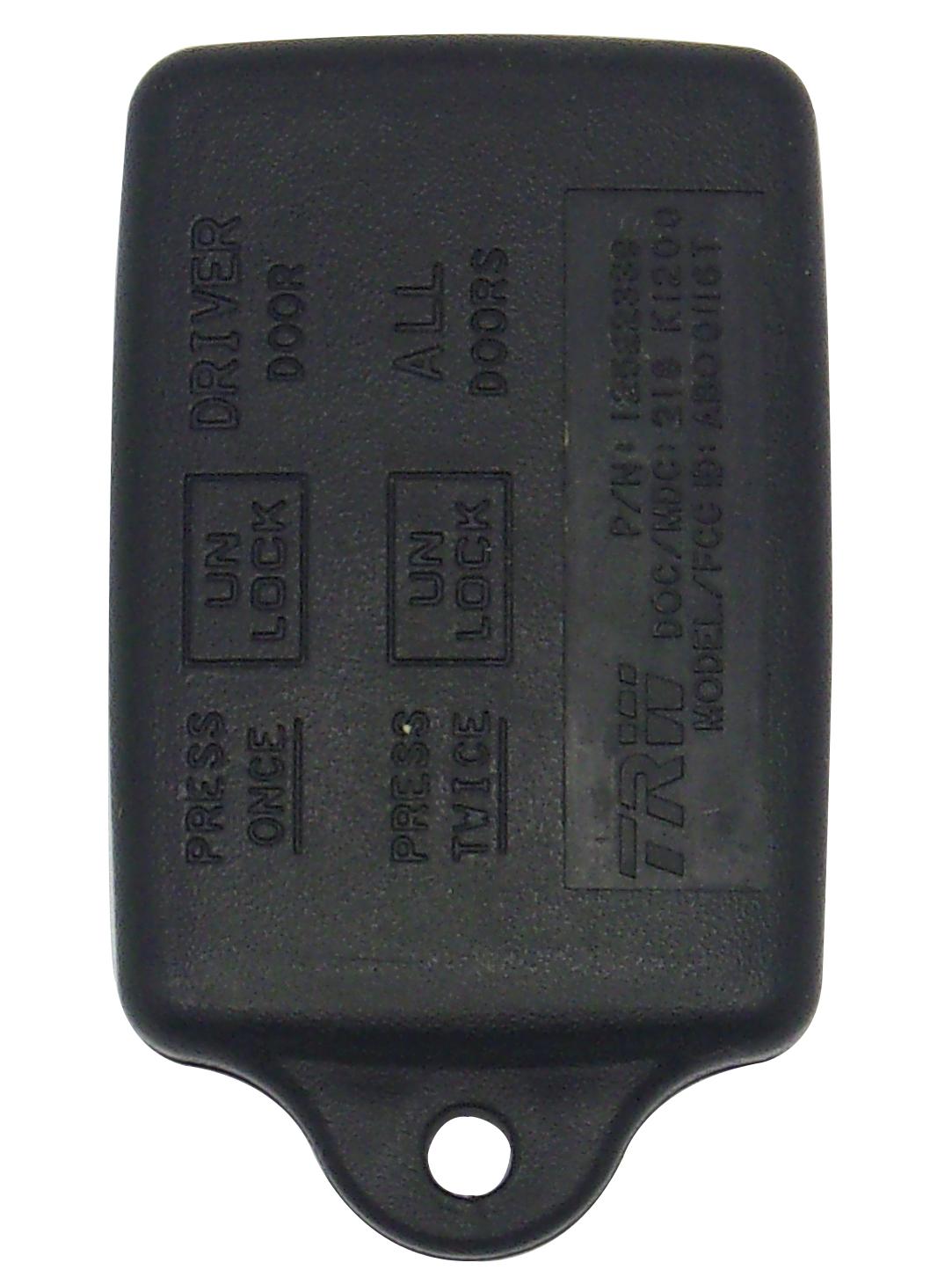 Pontiac Keyless Entry Remote - 3 Button