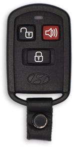 Hyundai Santa Fe Keyless Entry Transmitter - 3 Button