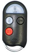 Infiniti Keyless Entry Car Remote - 4 Button w/ Trunk