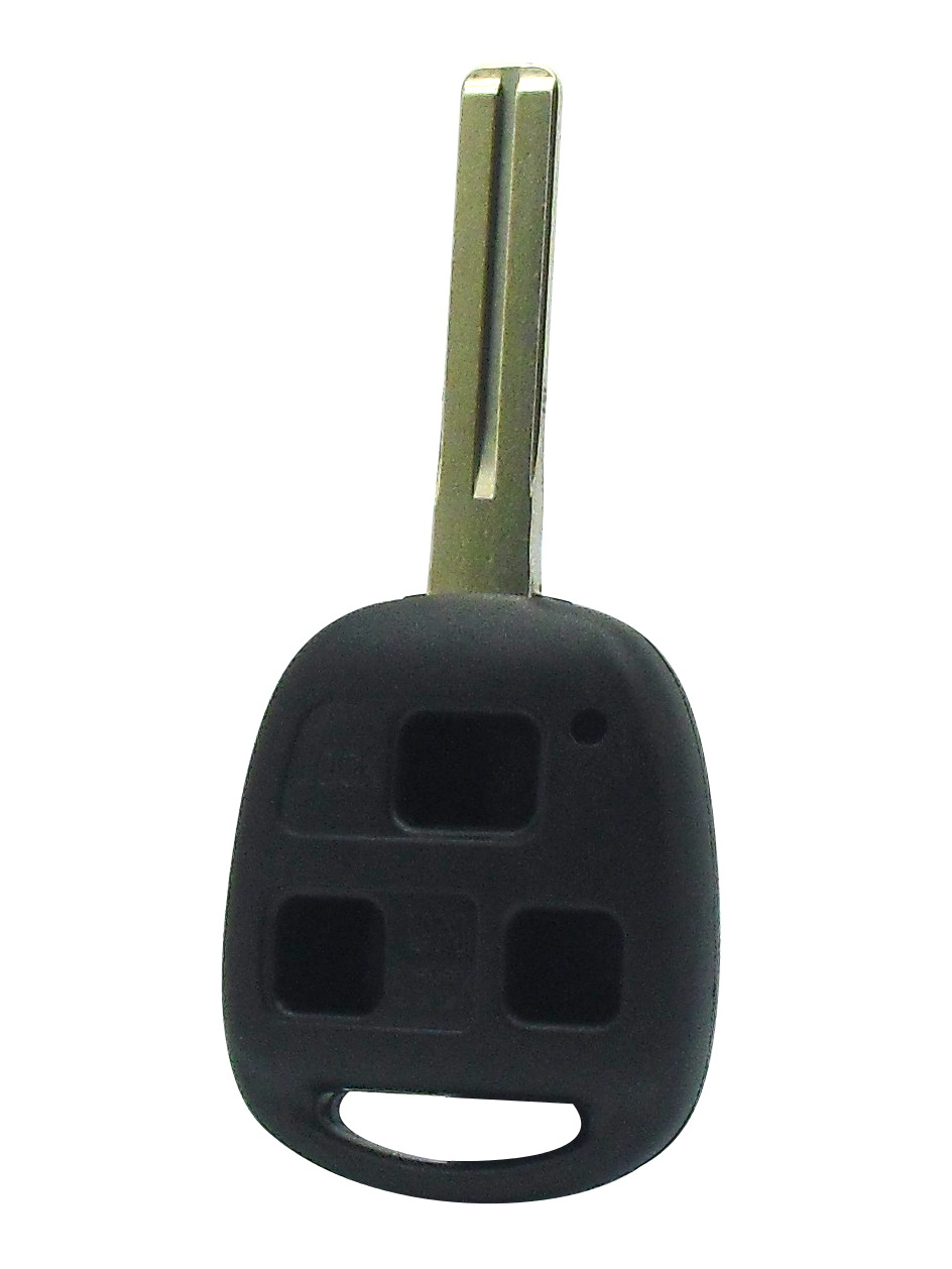 Lexus - 3 Button Black Key Combo Replacement Shell