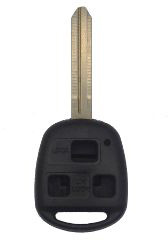 Toyota - 3 Button Black Key Combo Replacement Shell