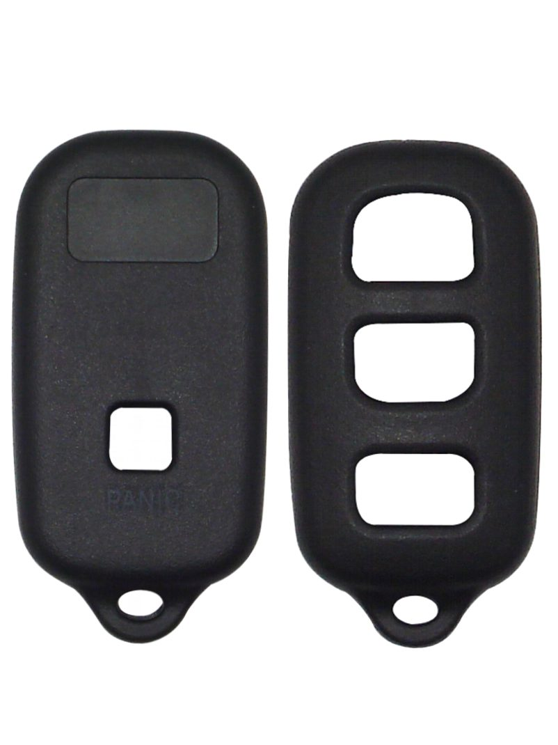 Black Remote Replacement Shell - 4 Button