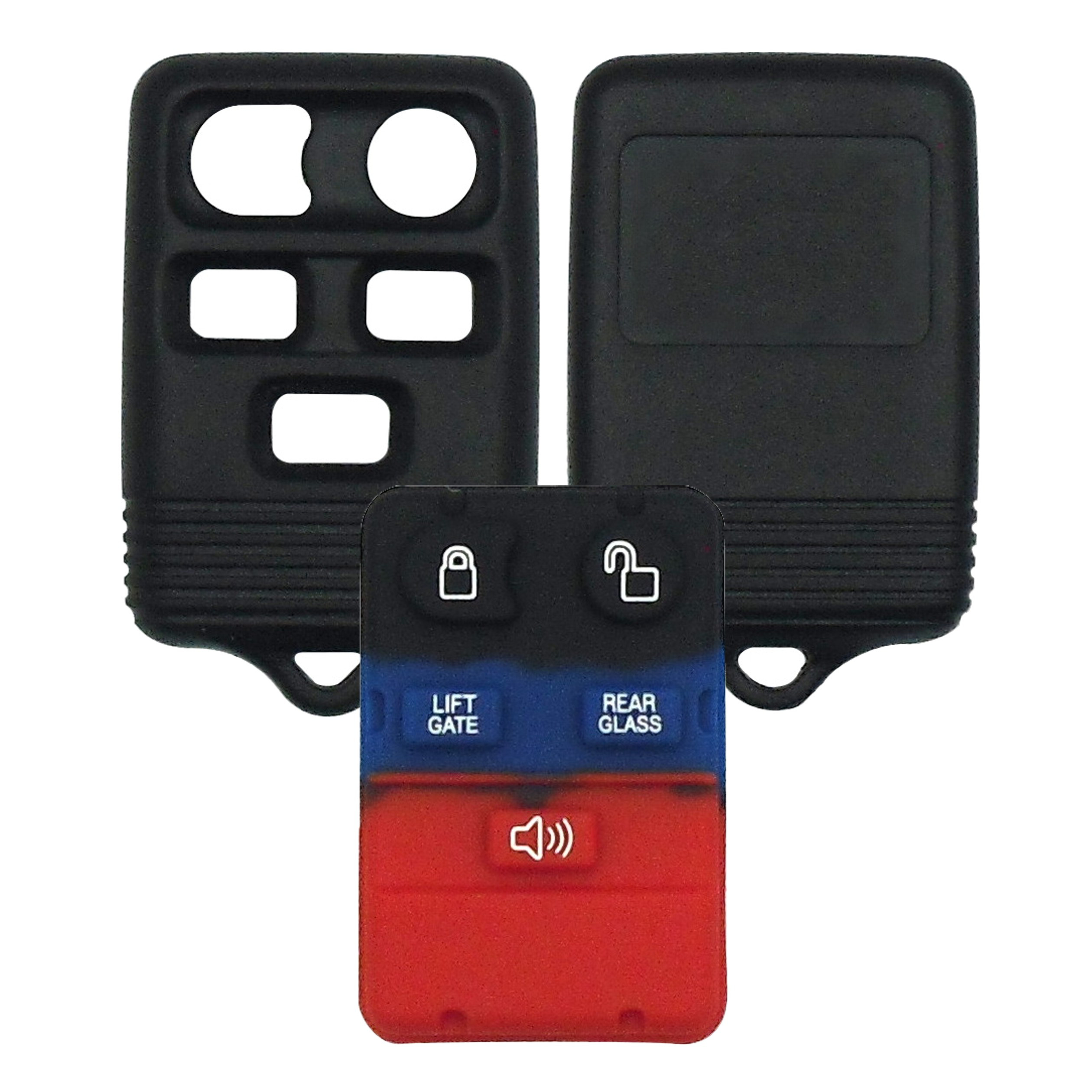 Ford - 5 Button Black Remote Replacement Shell