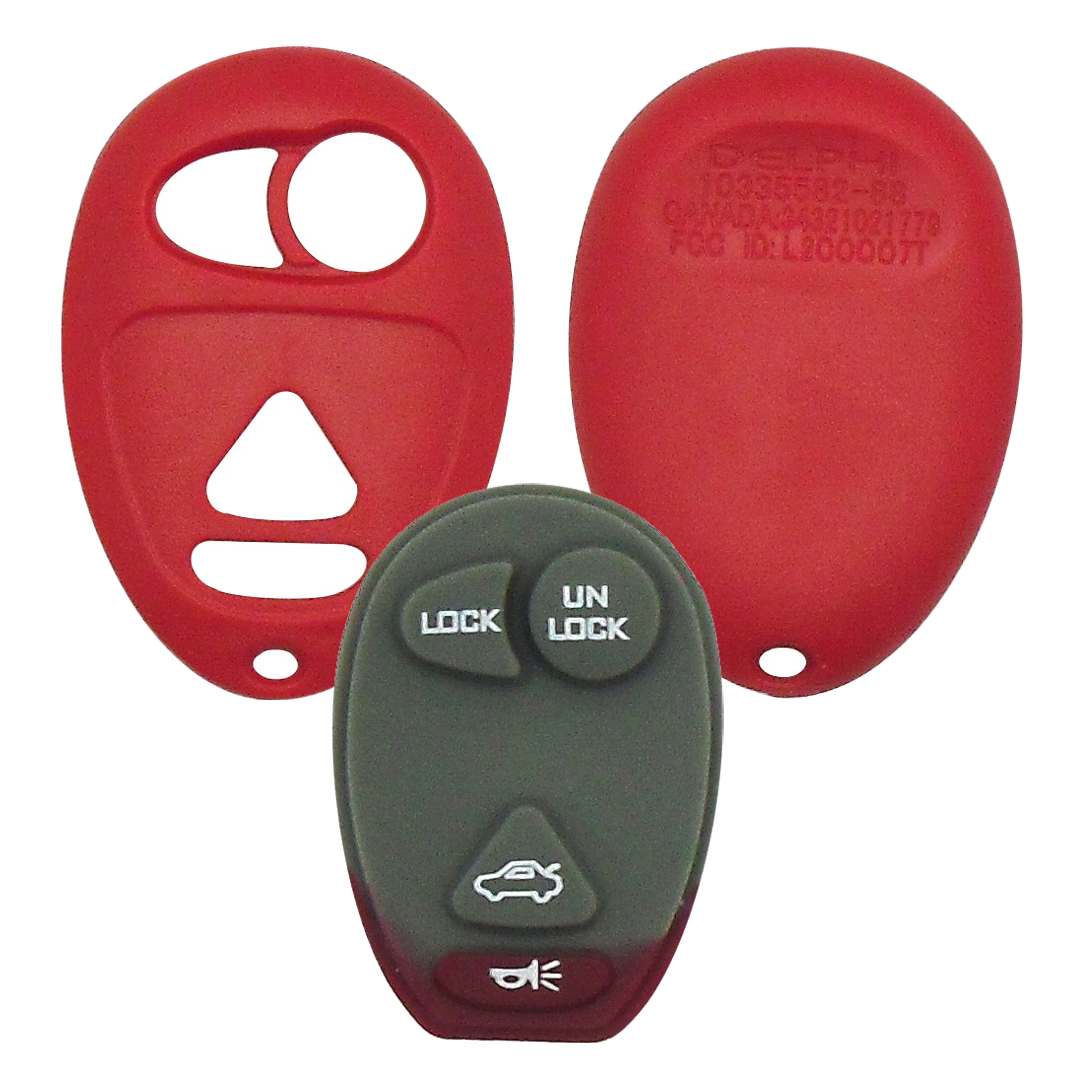 GM - 4 Button Red Remote Replacement Shell