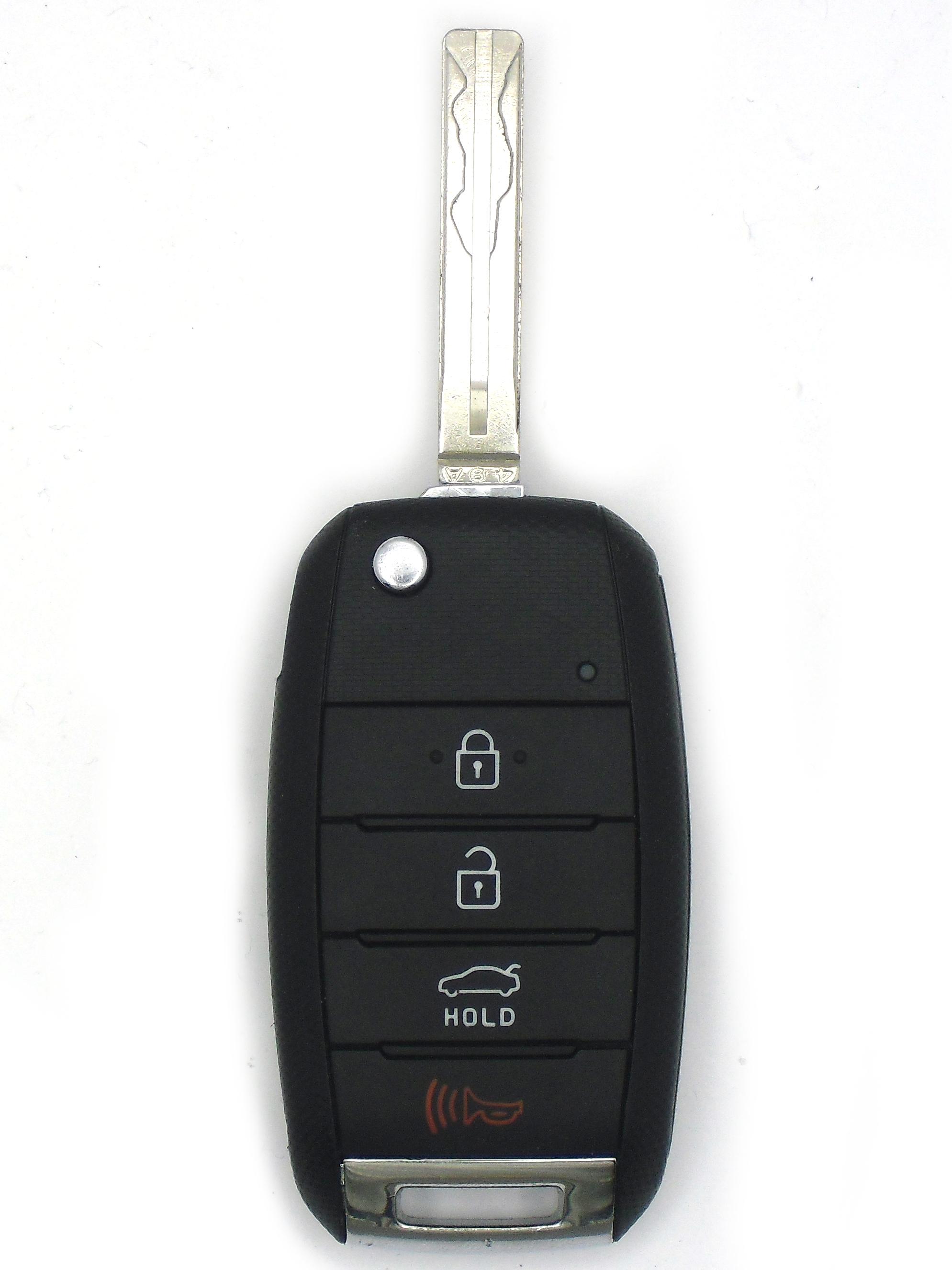Kia Keyless Entry and Flip Key - 4 Button with Trunk