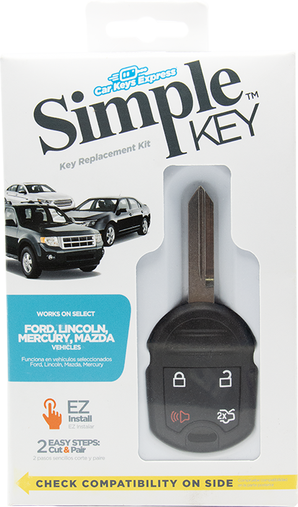 Replacement Key & Remote Combo for Ford, Lincoln, Mazda, and Mercury Vehicles