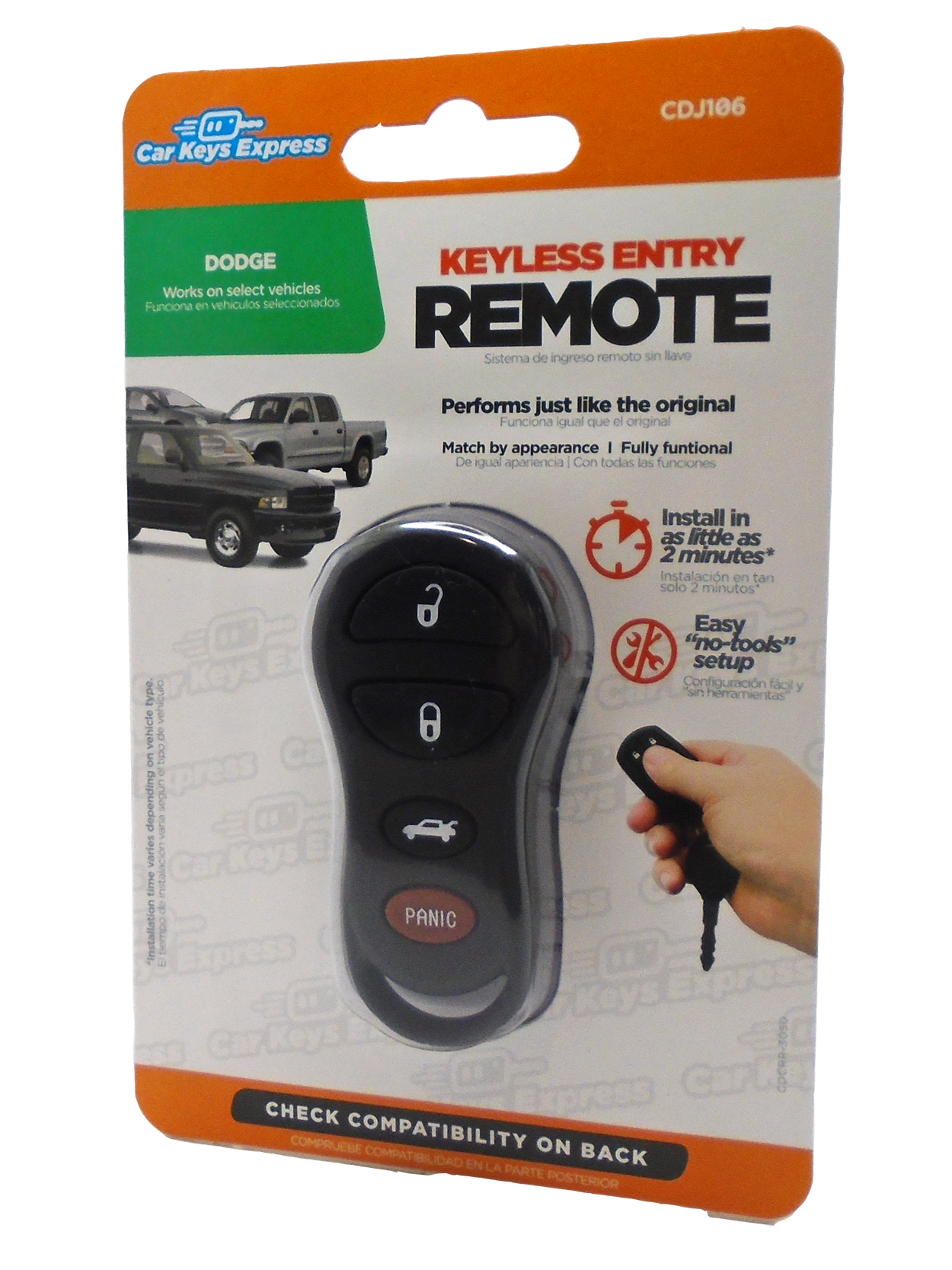 Chrysler / Dodge / Jeep Keyless Entry Remote - 4 Button