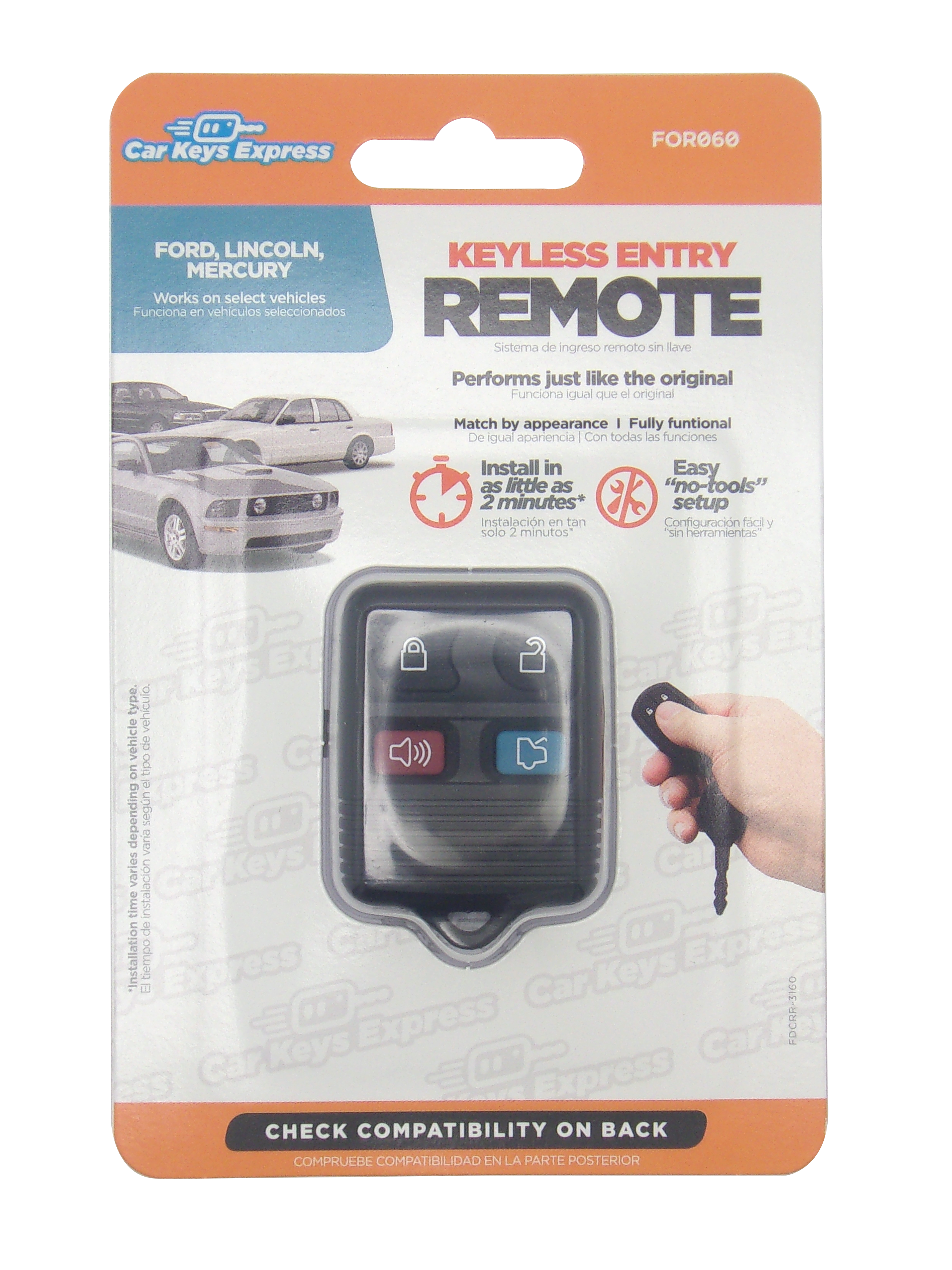 Keyless Entry Car Remote - 4 Button w/ Trunk Release
