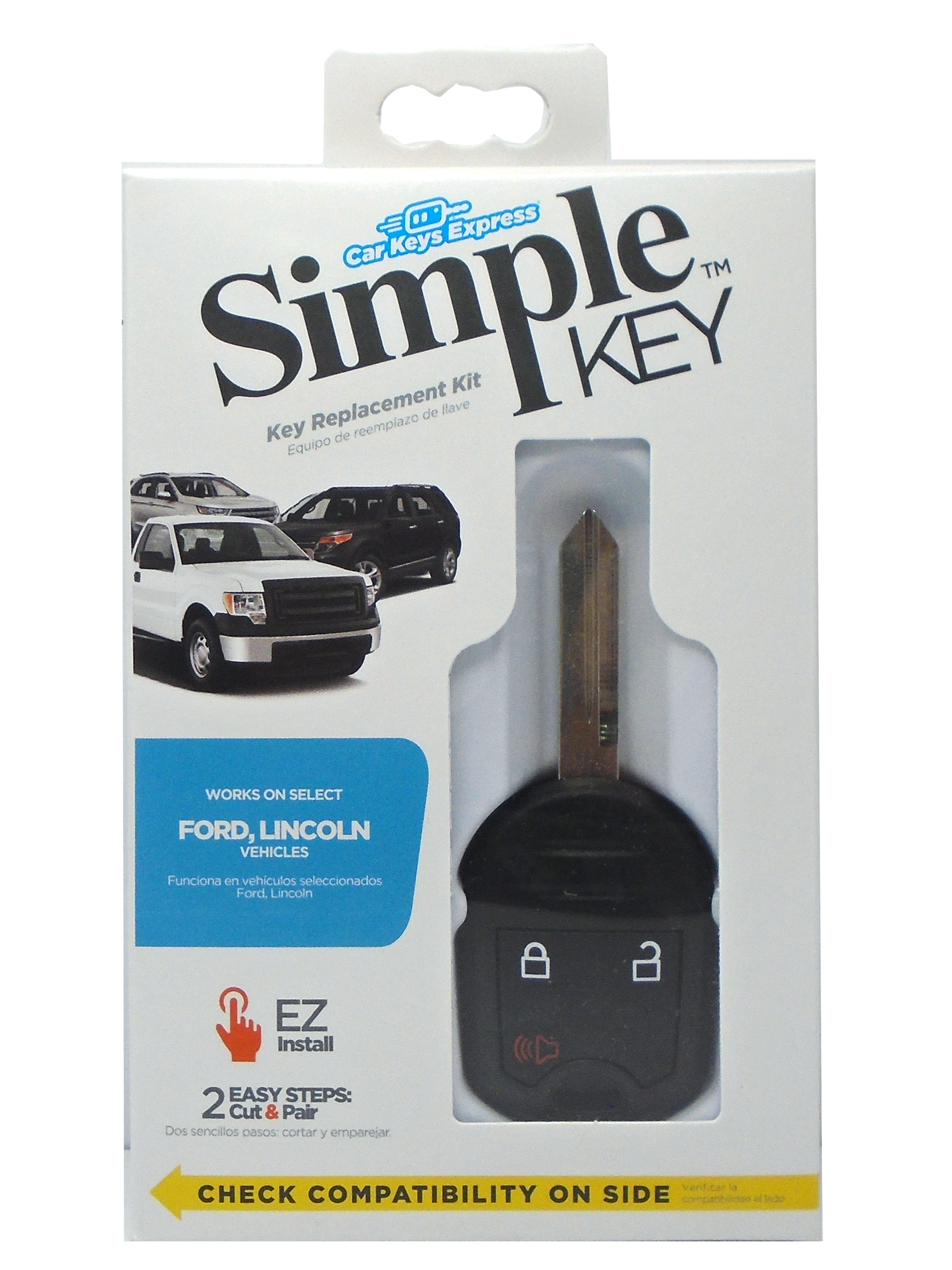 Ford Simple Key - 3 Button Remote & Key Combo