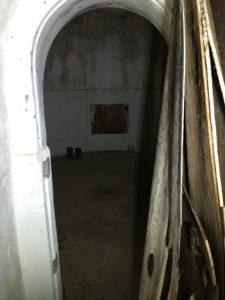 inside bomb shelter