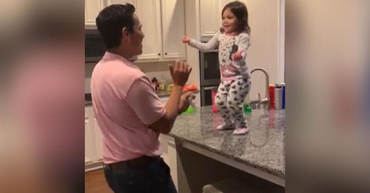 salsa dancing dad daughter
