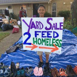 jaxson raises money to feed homeless