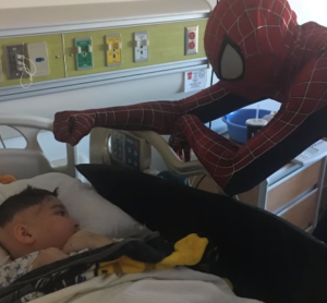 yuri visits sick child