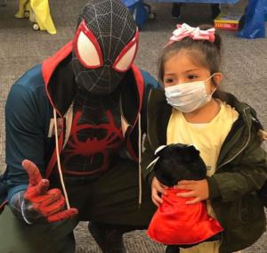 spider-man visit