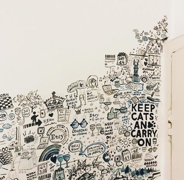 quarantine wall art