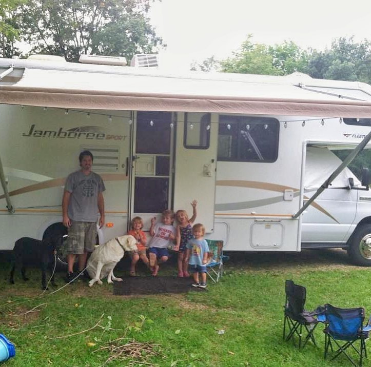 family with rv