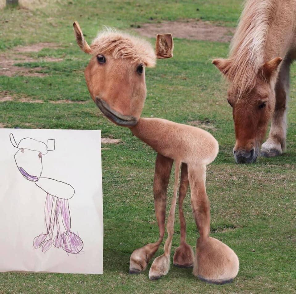 """Dad Brings """"Realistic"""" Twist to Kids' Drawings"""