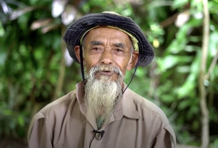 sadiman in his banyan forest in indonesia