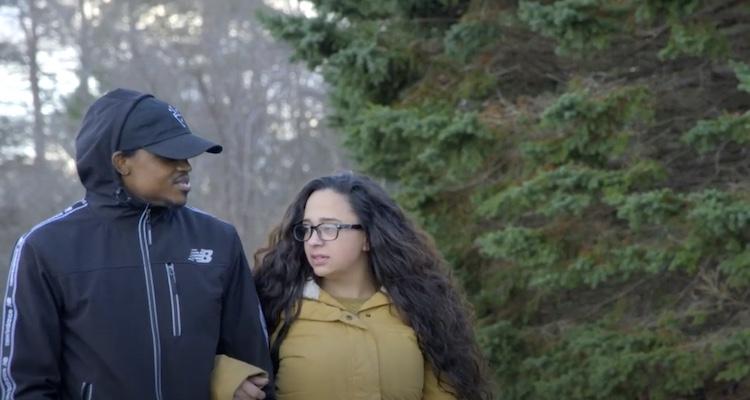 husband and wife walking