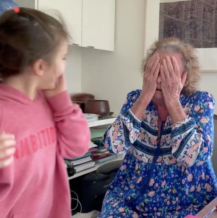 granddaughter surprising grandma