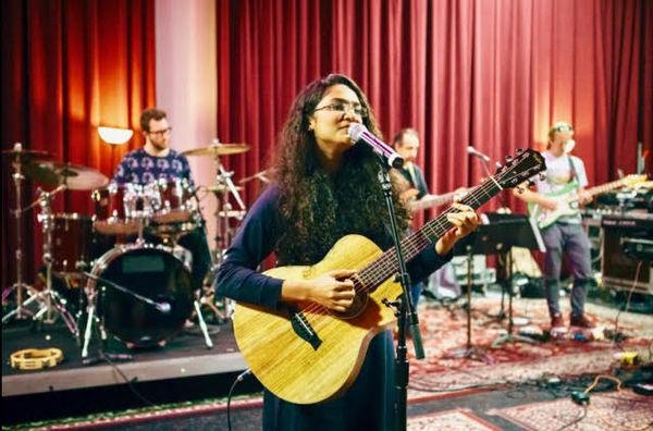 Shubhangi Joshi from India ?? jamming on the guitar! ?