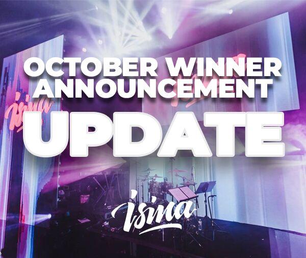 October ISINA Winner Announcement Coming November 1st