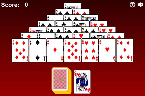 spider pyramid solitaire